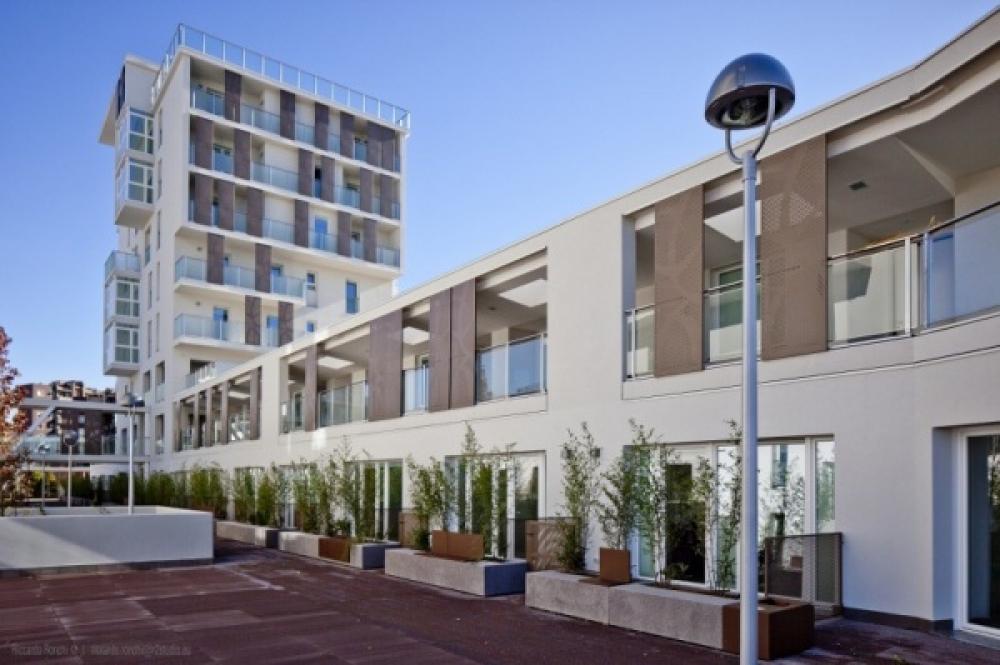 Milano progetto di social housing in legno for Piani di costruzione di edifici residenziali in metallo